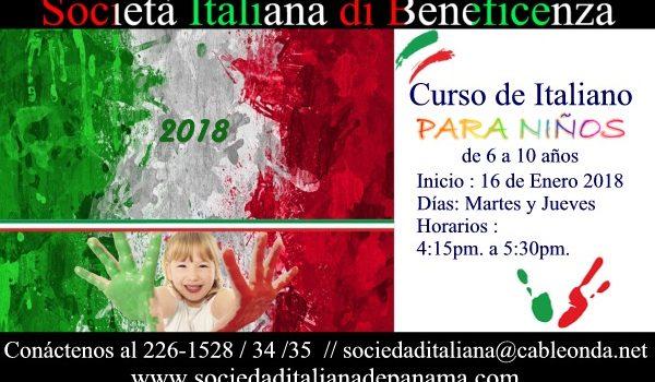 Curso de Italiano para niños 2018