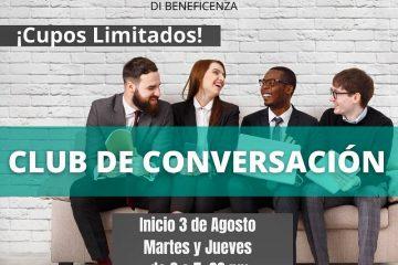 Club de conversación inicia 3 Agosto 2021