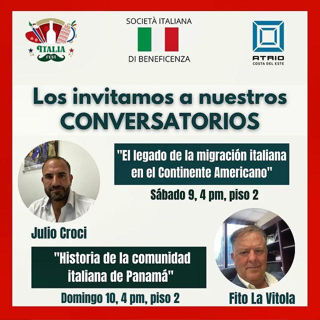 Conversatorio sobre la comunidad Italiana.